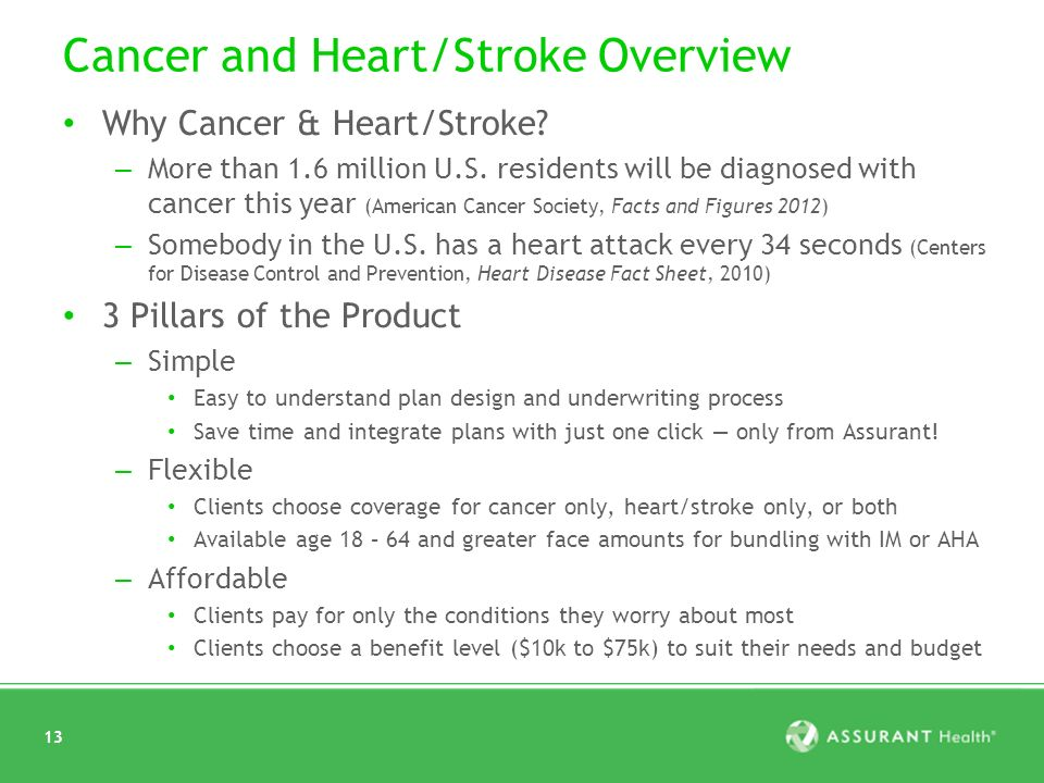 13 Cancer and Heart/Stroke Overview Why Cancer & Heart/Stroke.