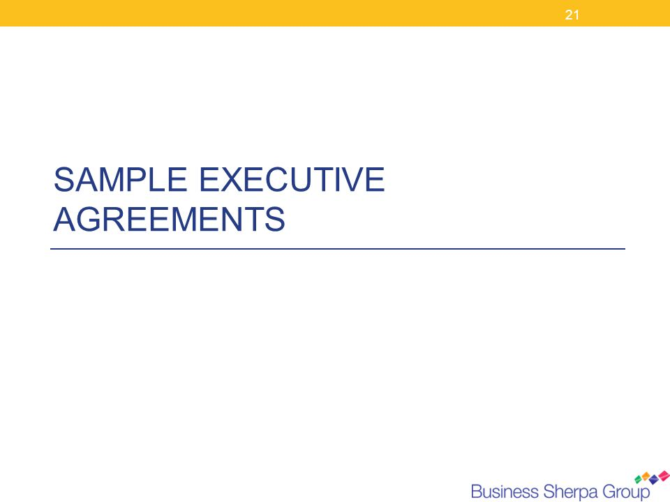 21 SAMPLE EXECUTIVE AGREEMENTS