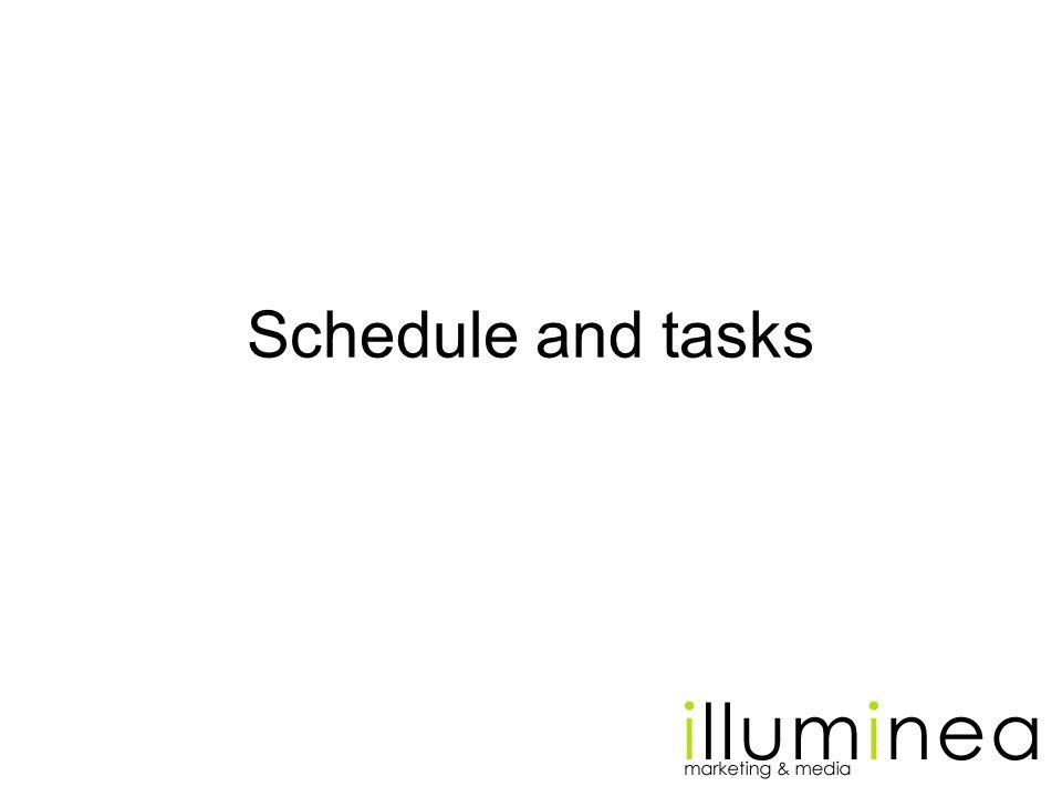 Schedule and tasks