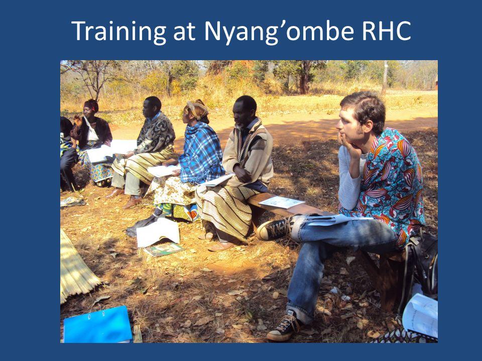 Training at Nyangombe RHC