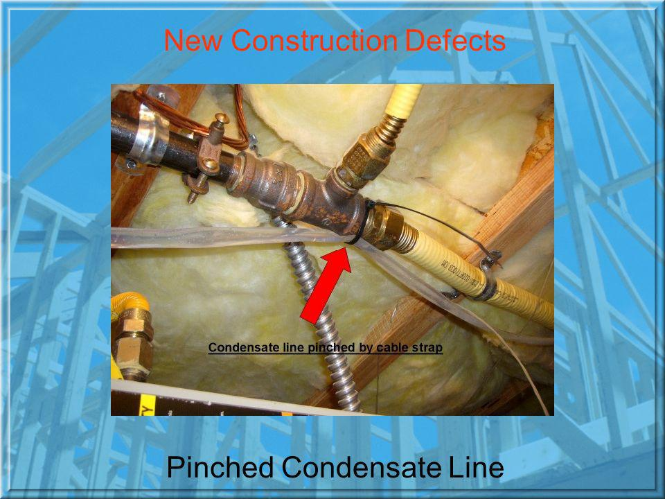 Pinched Condensate Line