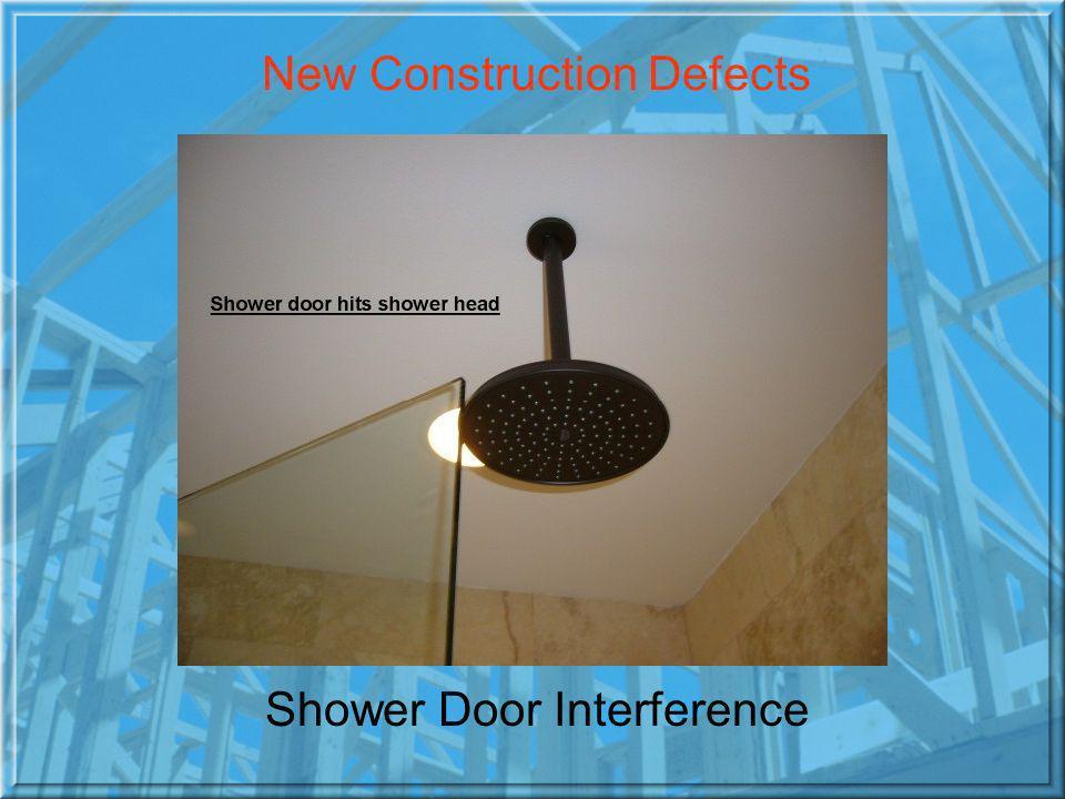 Shower Door Interference