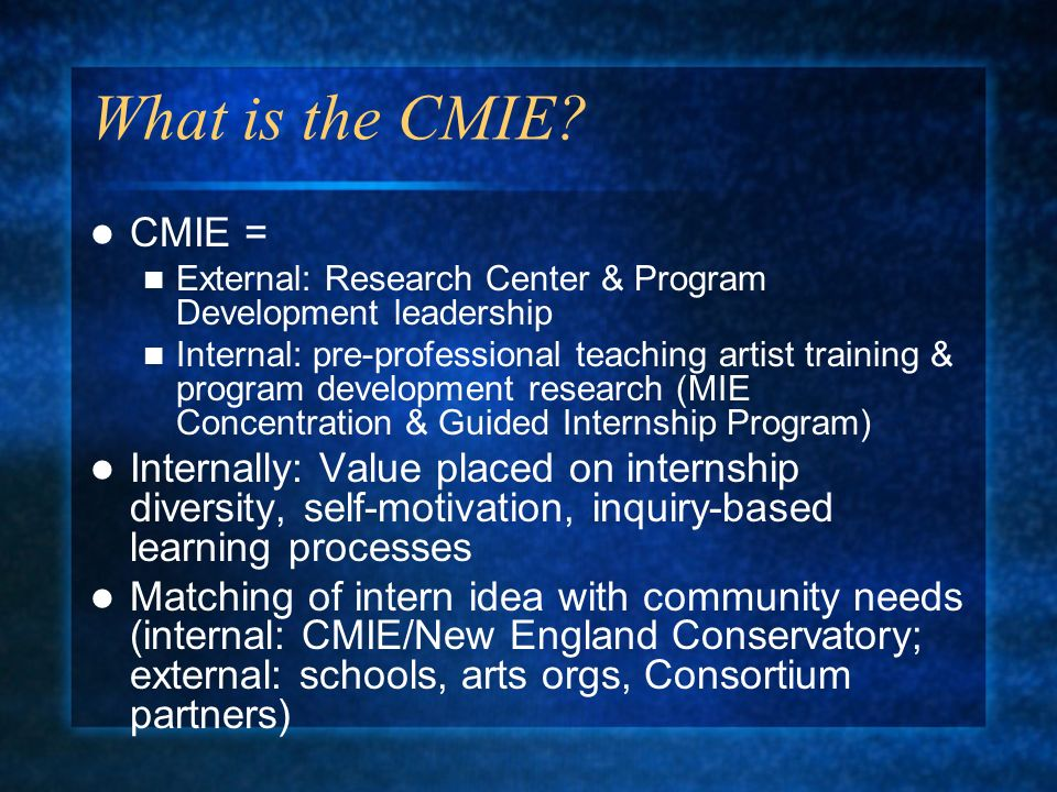 What is the CMIE.