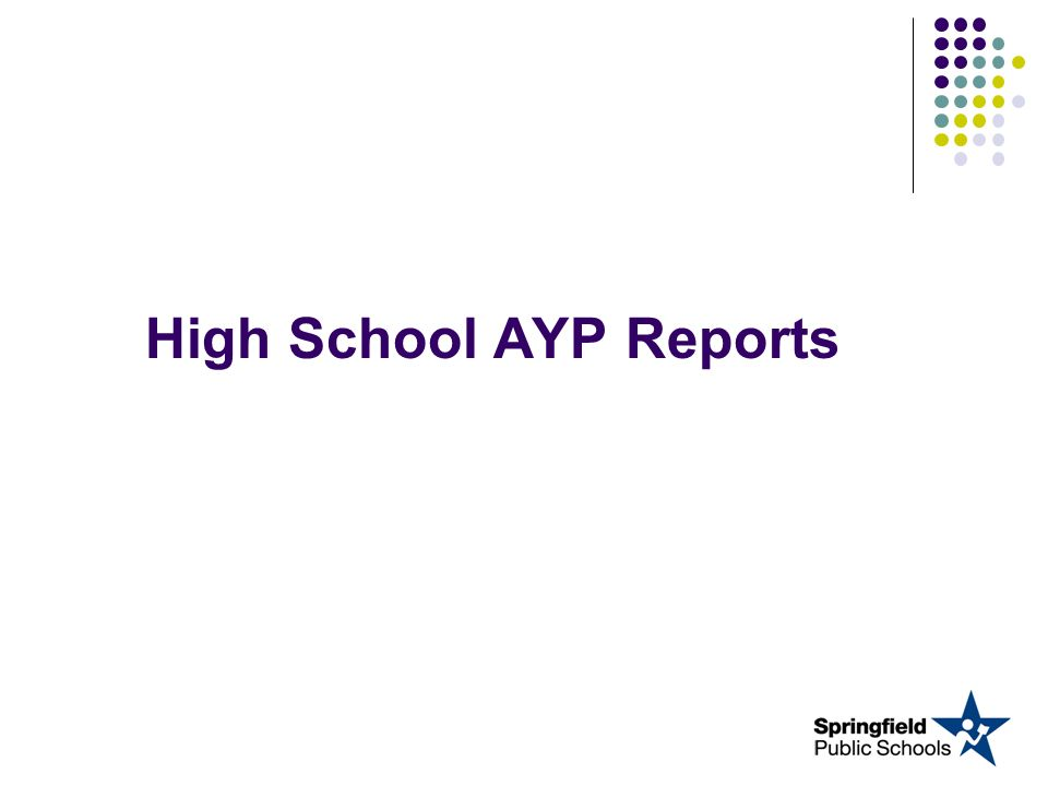 High School AYP Reports