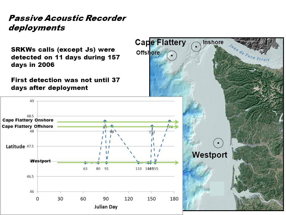 SRKWs were detected more often than expected in January, February, and March Passive Acoustic Recorder deployments