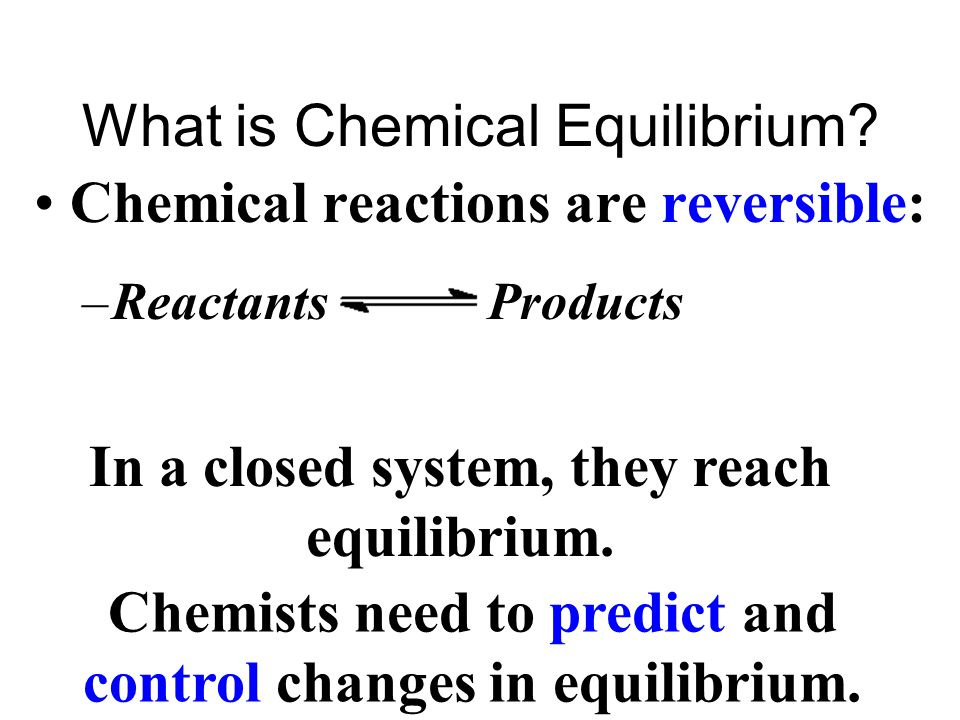 At equilibrium, the two rates are equal & the amounts of substances dont change.