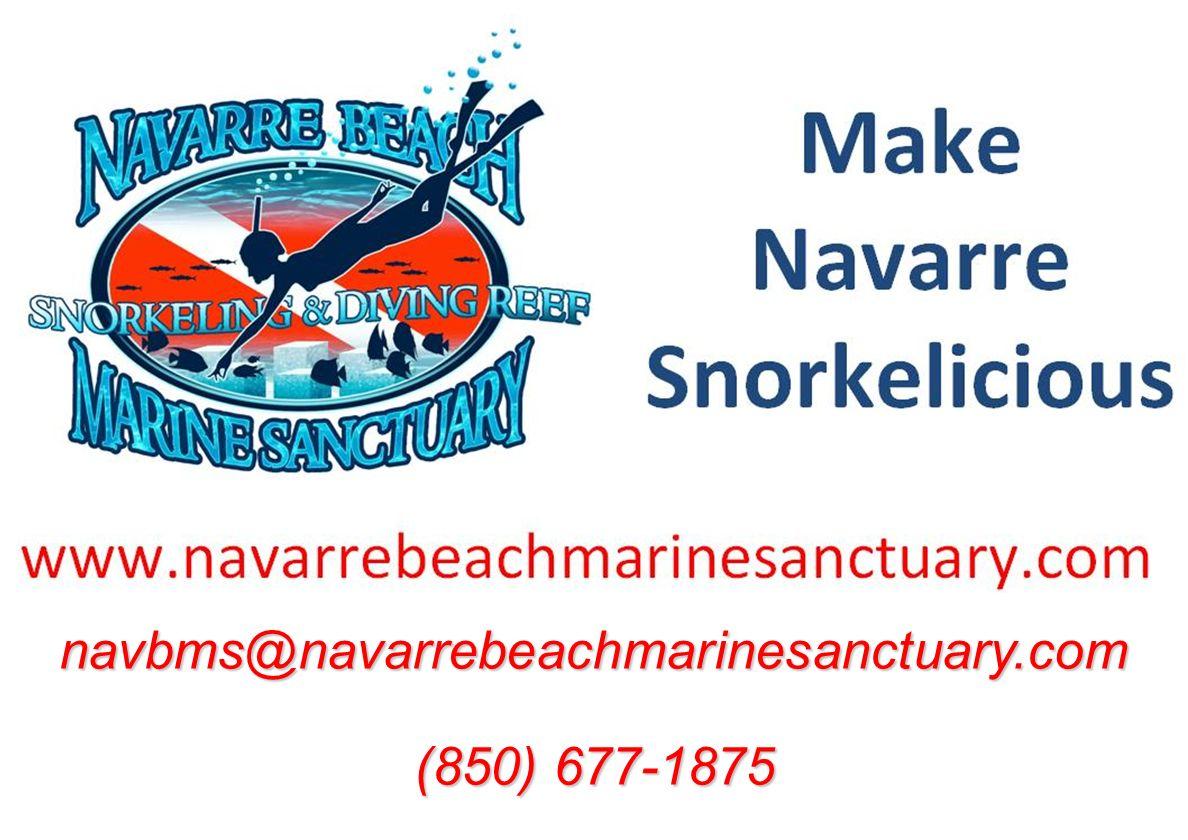 navbms@navarrebeachmarinesanctuary.com (850) 677-1875