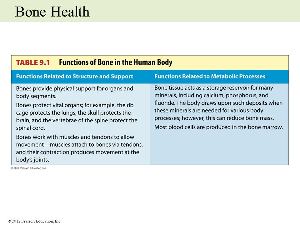 © 2012 Pearson Education, Inc. Bone Health
