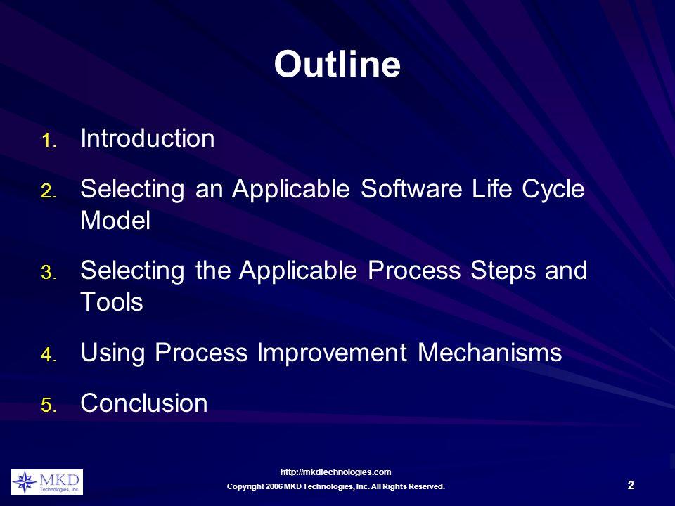 http://mkdtechnologies.com 2 Copyright 2006 MKD Technologies, Inc.
