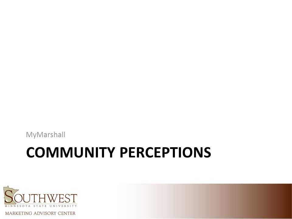 COMMUNITY PERCEPTIONS MyMarshall