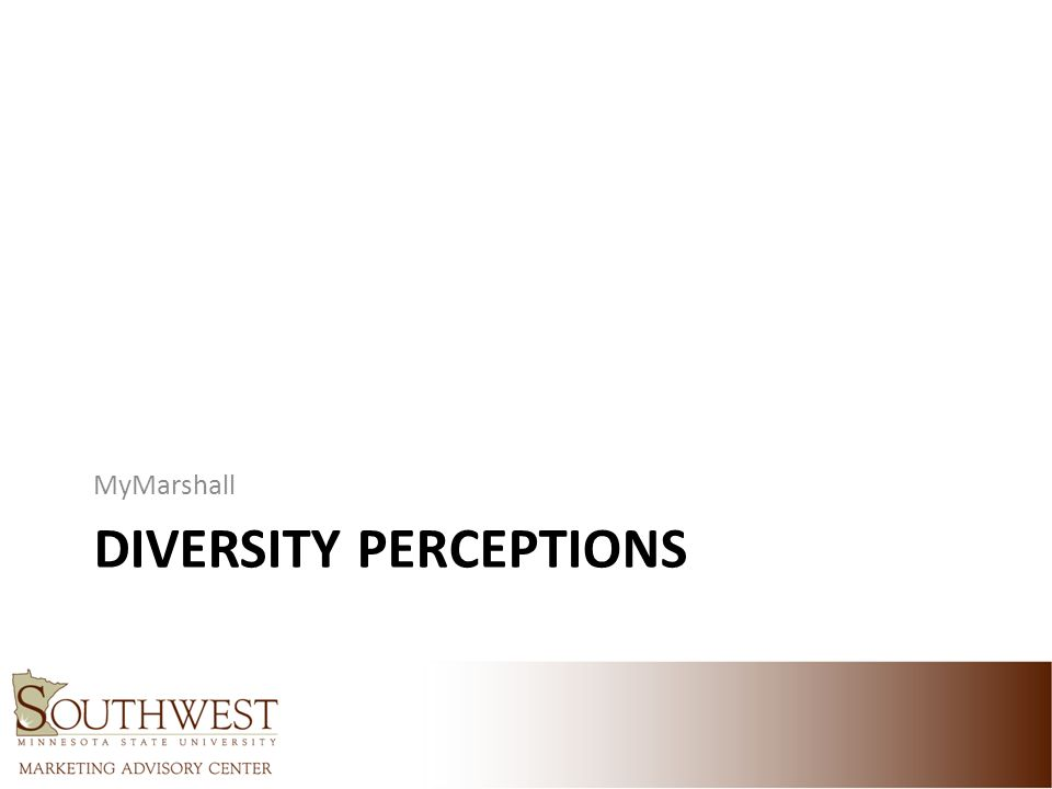 DIVERSITY PERCEPTIONS MyMarshall