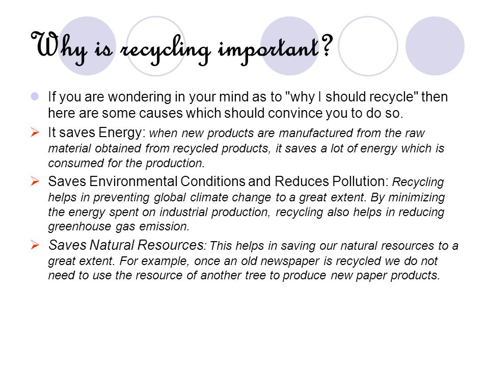 Why is recycling important? If you are wondering in your mind as to