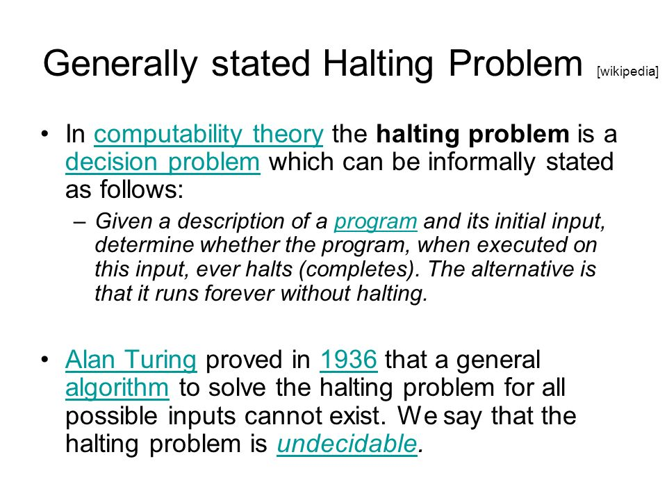 Conclusion As an engineer developing software, you must… –Know the limits of computation when attacking a problem.