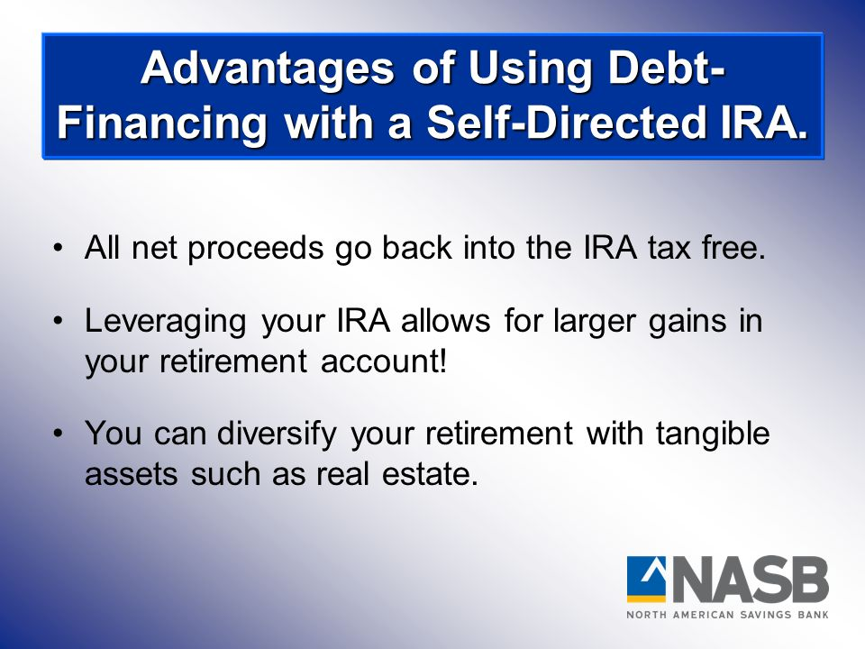 All net proceeds go back into the IRA tax free. Leveraging your IRA allows for larger gains in your retirement account! You can diversify your retirem