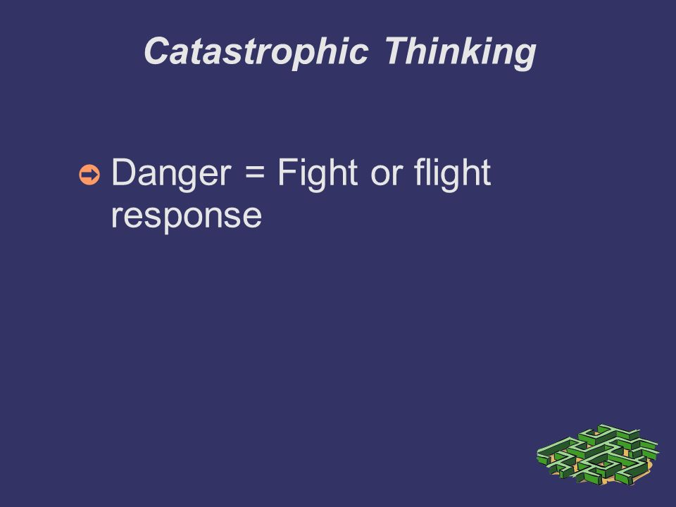 Catastrophic Thinking Danger = Fight or flight response
