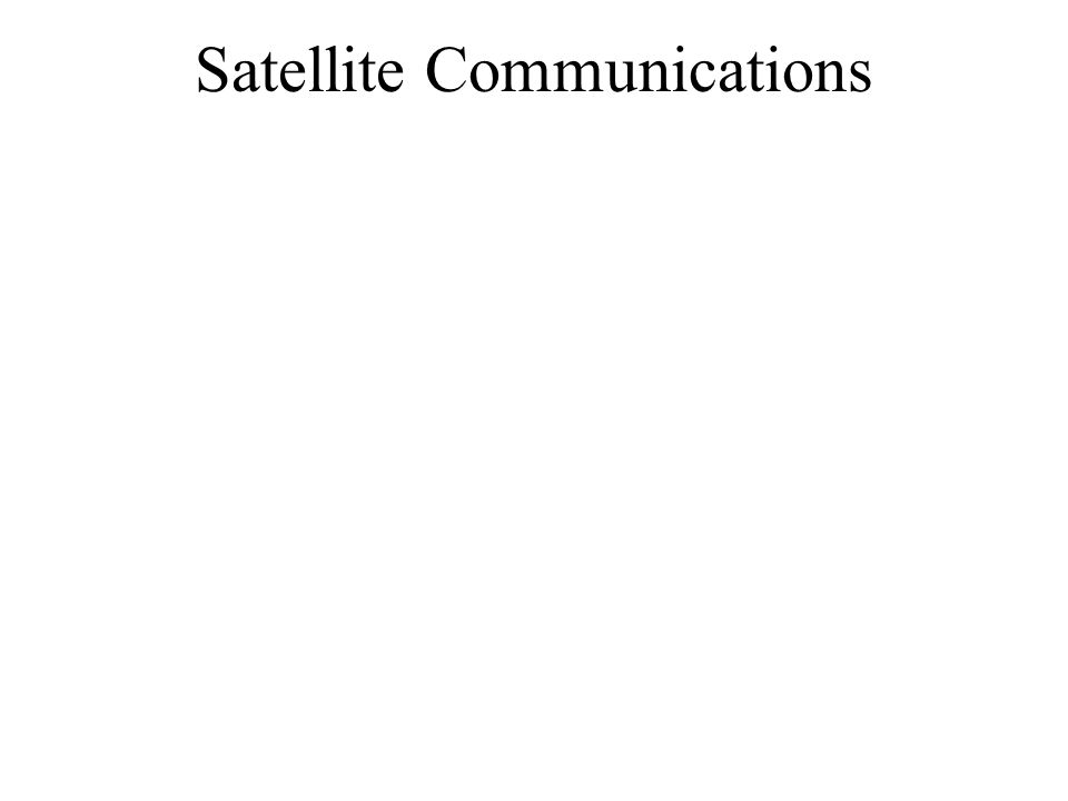 Satellite Communications