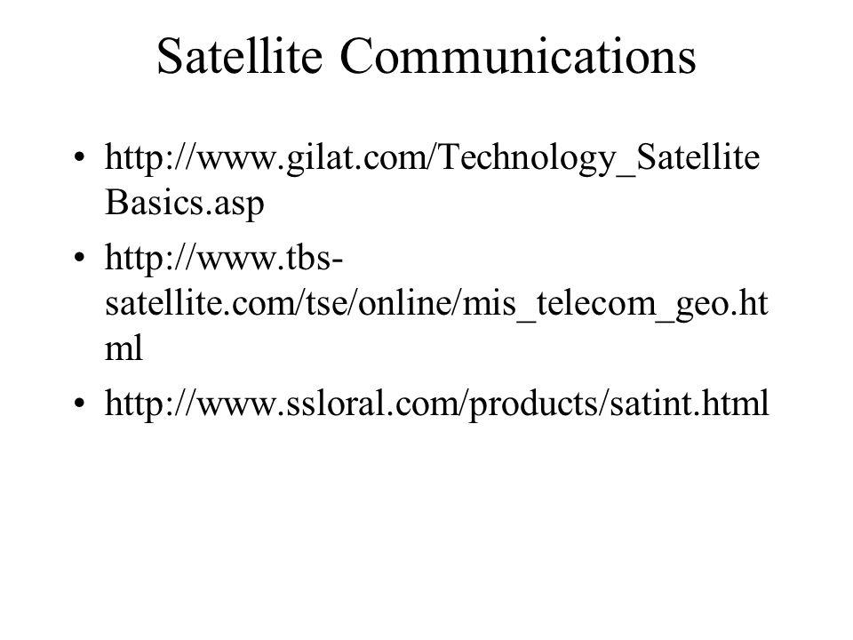 http://www.gilat.com/Technology_Satellite Basics.asp http://www.tbs- satellite.com/tse/online/mis_telecom_geo.ht ml http://www.ssloral.com/products/satint.html