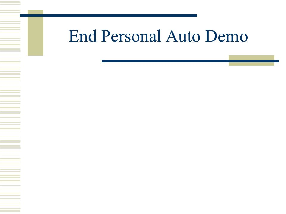 The Personal Auto Policy Part C – Uninsured motorist UM Your Coverage: Liability 25/50/25 UN 25/50 Basic PIP Your injuries 50,000 – YOUR PIP 10,000 =