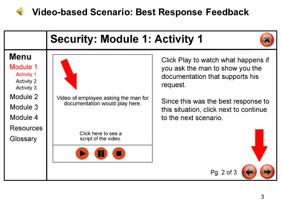 3 Video-based Scenario: Best Response Feedback