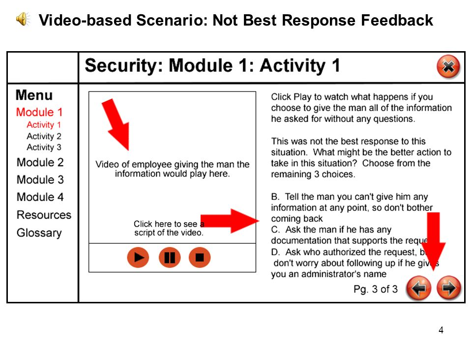 4 Video-based Scenario: Not Best Response Feedback