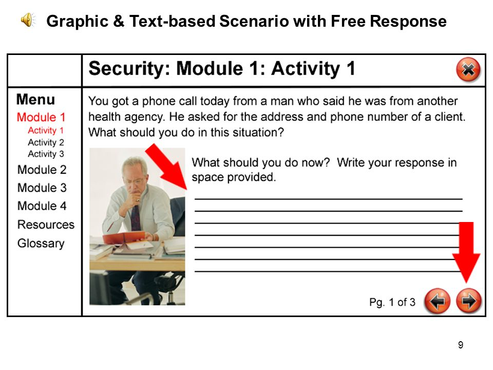 9 Graphic & Text-based Scenario with Free Response