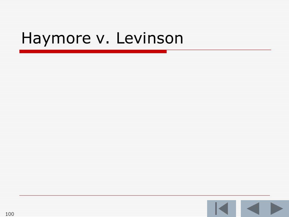 Haymore v. Levinson 100