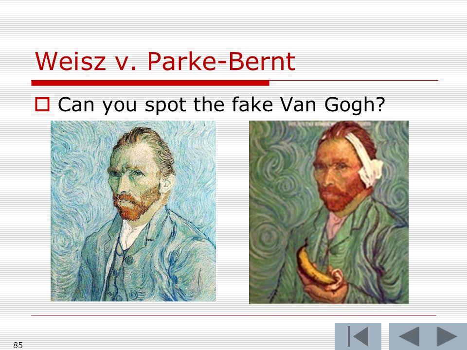 Weisz v. Parke-Bernt Can you spot the fake Van Gogh? 85