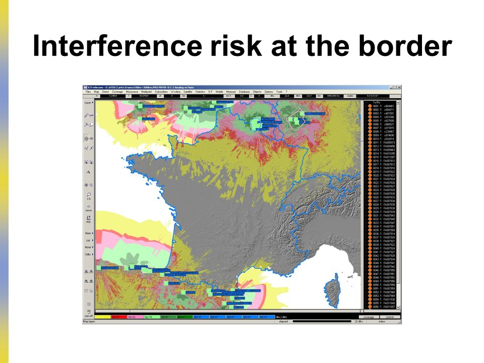 Interference risk at the border