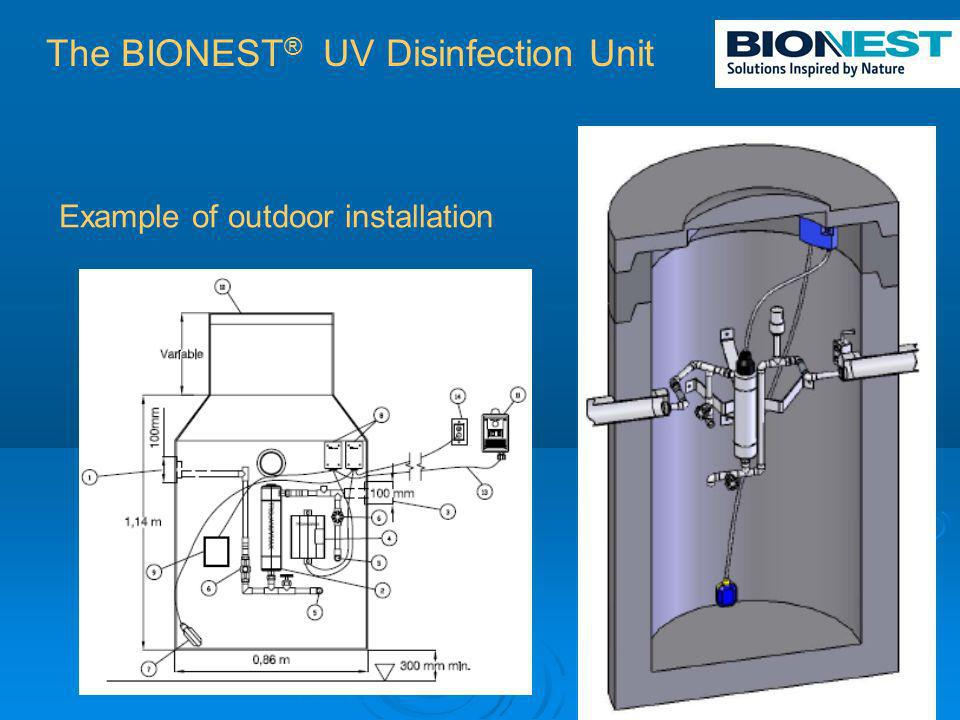 Example of outdoor installation The BIONEST ® UV Disinfection Unit