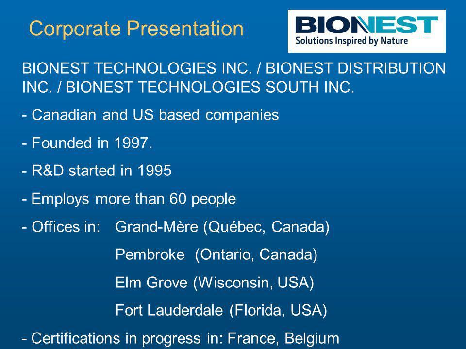 BIONEST TECHNOLOGIES INC. / BIONEST DISTRIBUTION INC.
