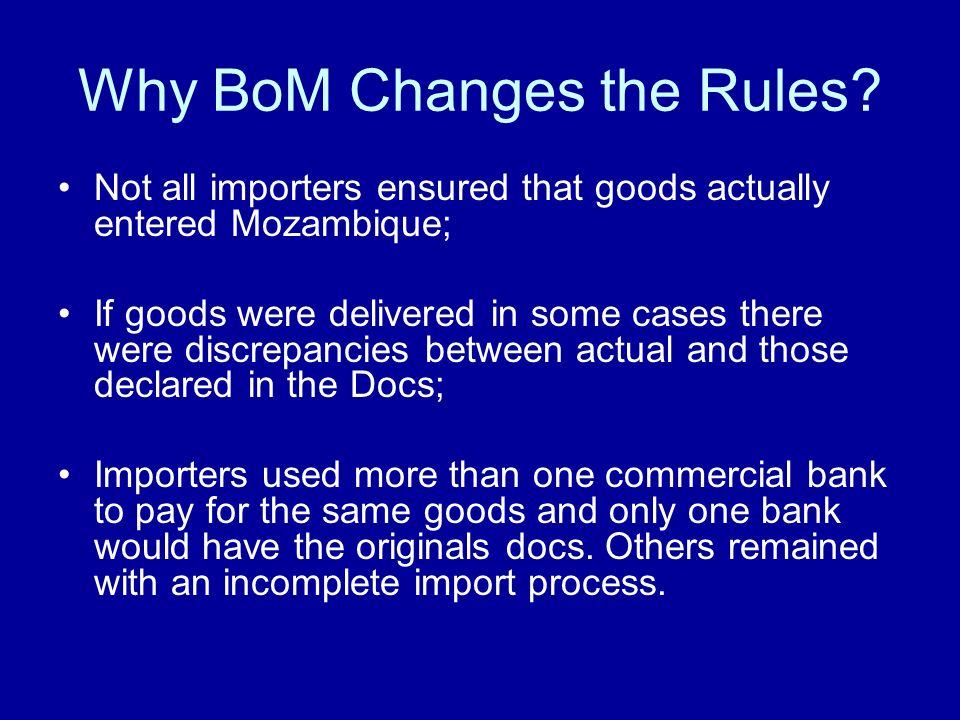 Why BoM Changes the Rules.