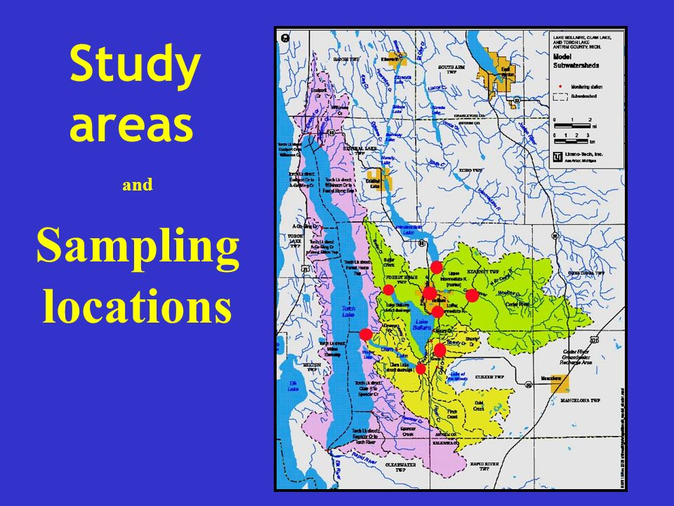 Study areas and Sampling locations