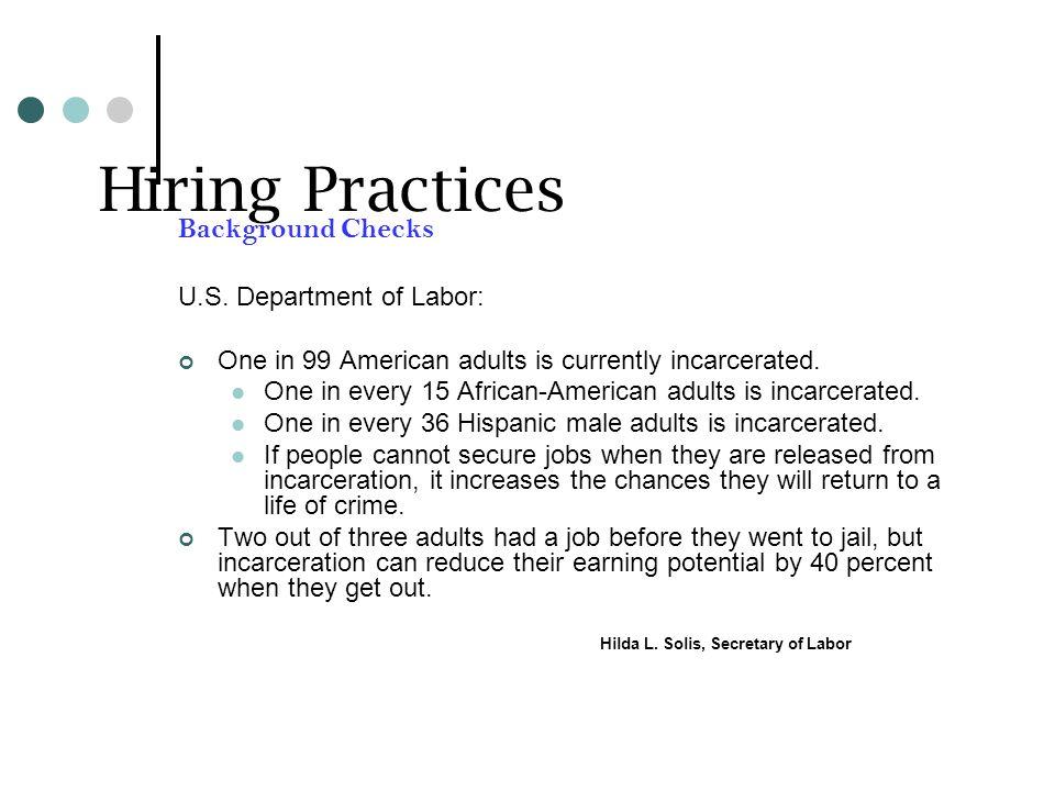 Hiring Practices Background Checks U.S.