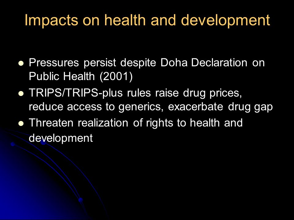 17 Major policy shifts International funding materializes in GFATM and PEPFAR From 3x5 to goal of universal access adopted by WHO, UNAIDS, UN General Assembly, G8 in 2005