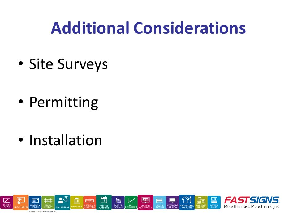 Additional Considerations Site Surveys Permitting Installation