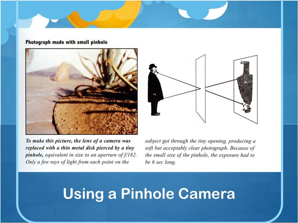Using a Pinhole Camera