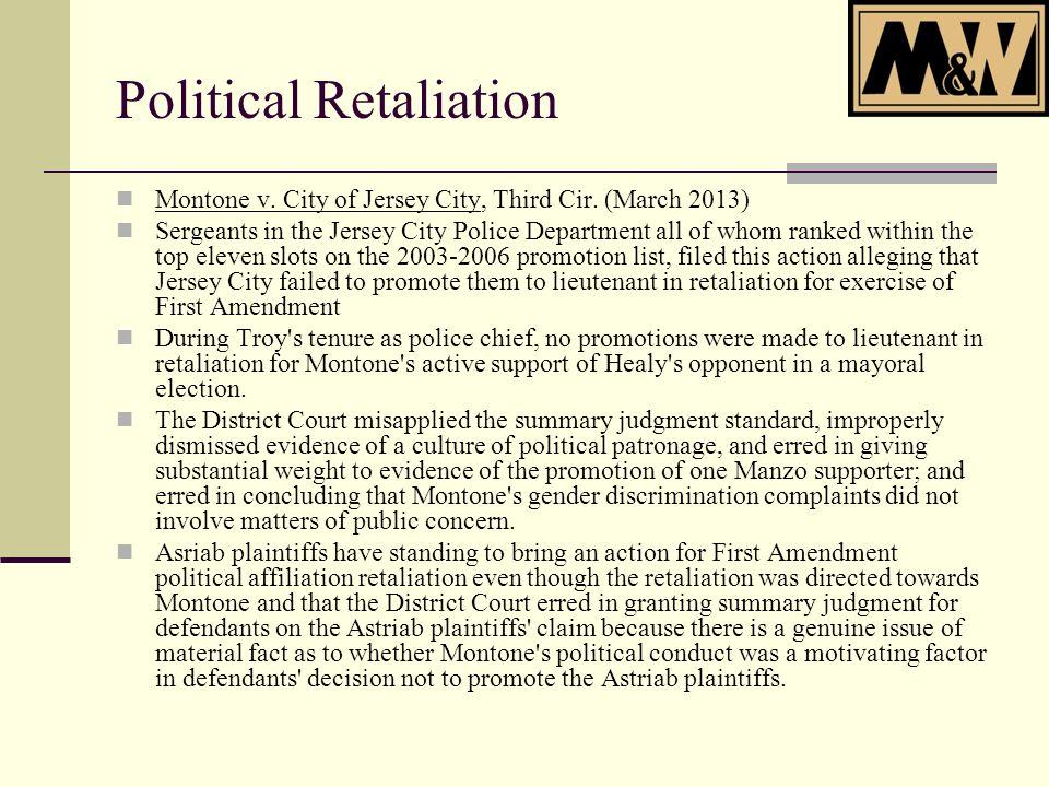 Montone v. City of Jersey City, Third Cir.