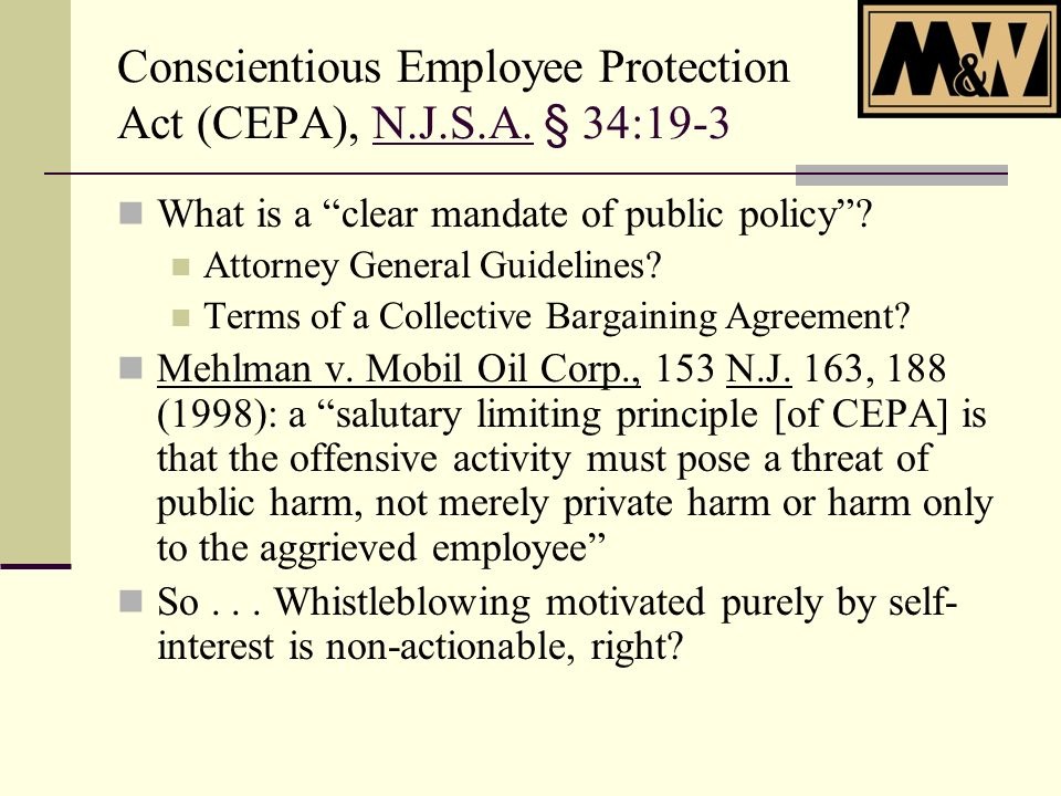 Workers Compensation Retaliation Stancil v.ACE USA (N.J.