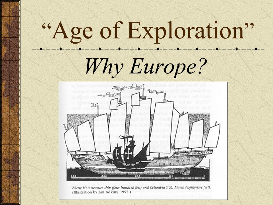 Why Europe? Age of Exploration