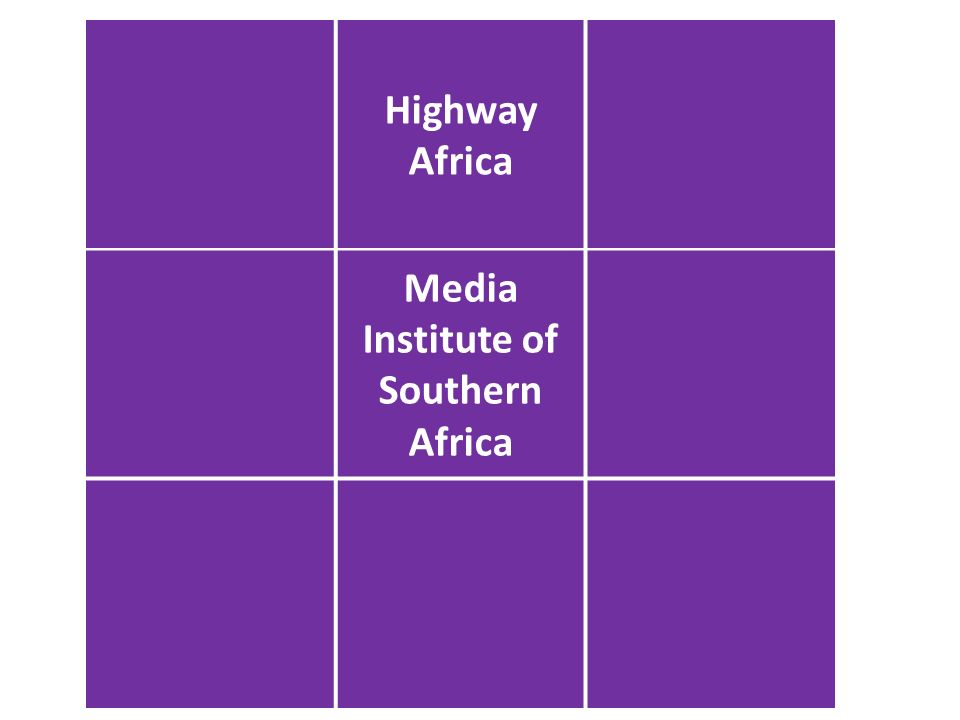 Open Democracy Advice Centre Highway Africa Media Institute of Southern Africa