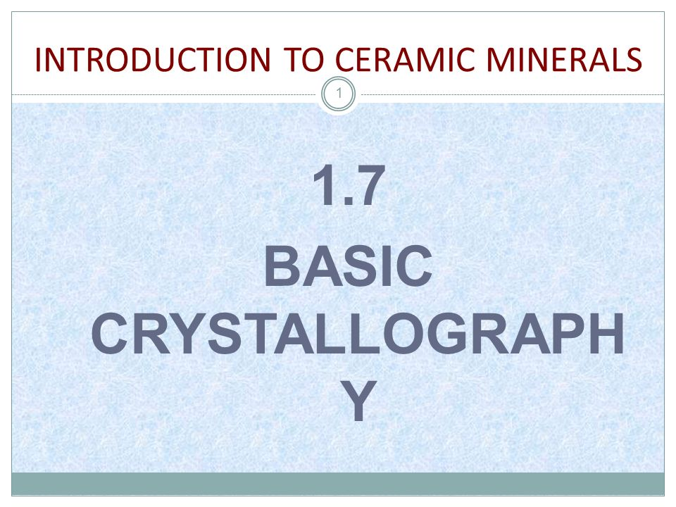 2 Crystallography is the experimental science of determining the arrangement of atoms in solids.