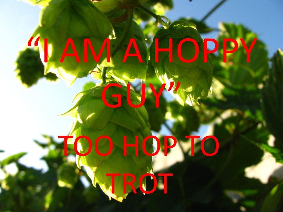 I AM A HOPPY GUY TOO HOP TO TROT