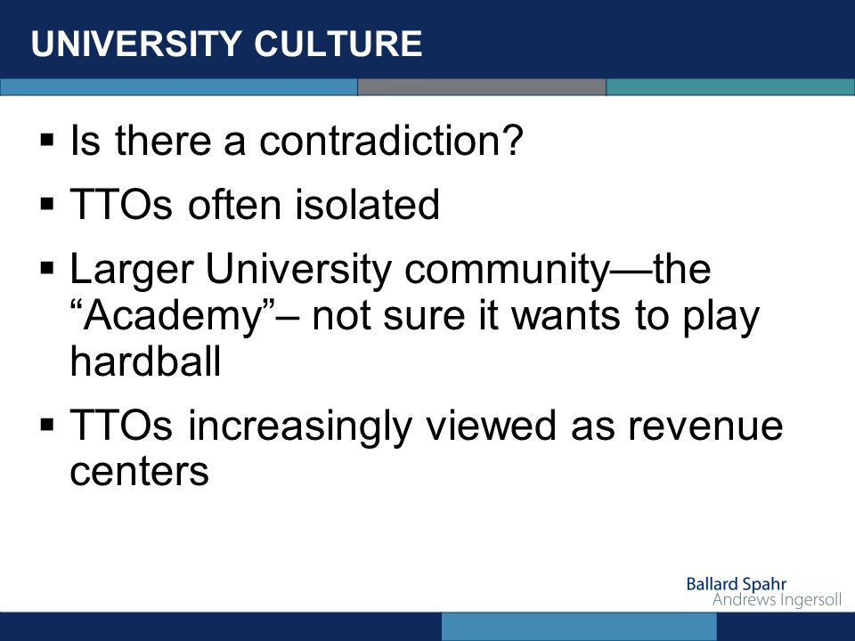 UNIVERSITY CULTURE Is there a contradiction.