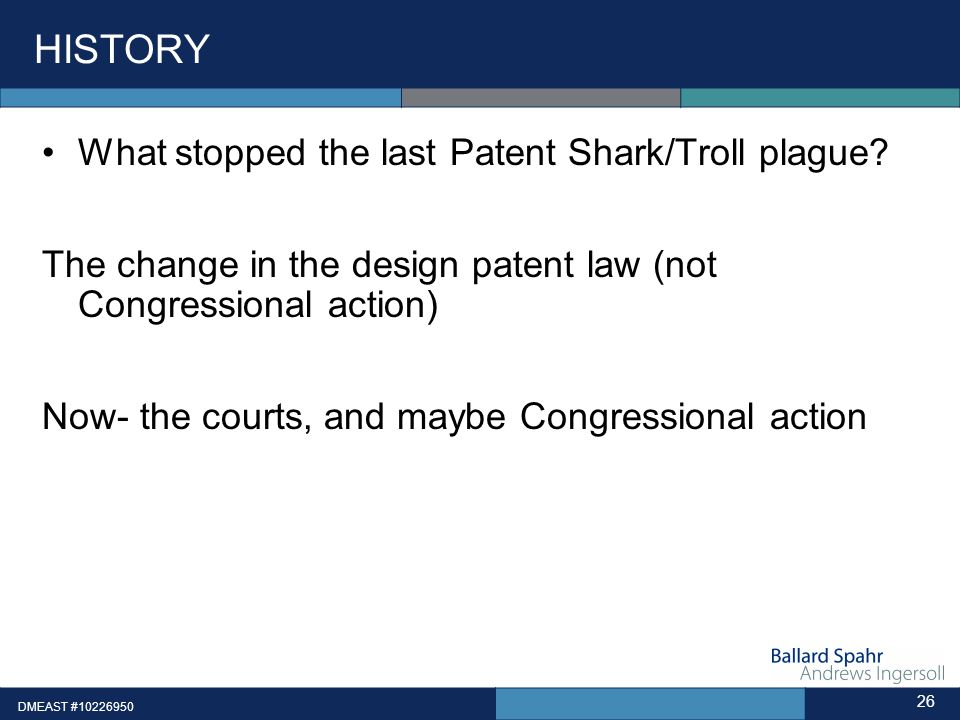 HISTORY What stopped the last Patent Shark/Troll plague.
