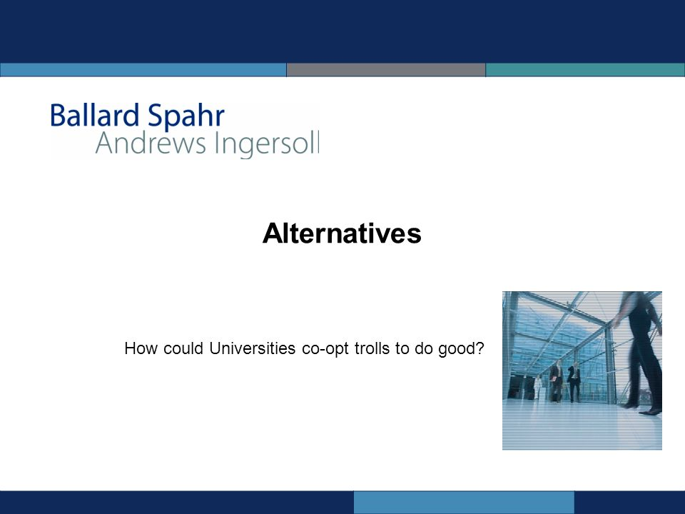 Alternatives How could Universities co-opt trolls to do good