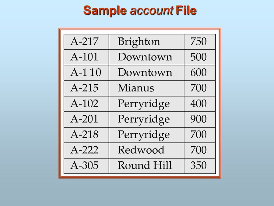 Sample account File