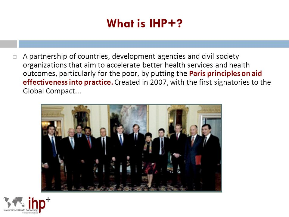What is IHP+.