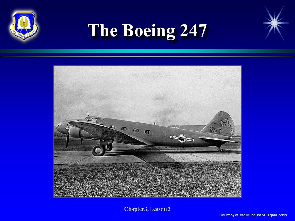Chapter 3, Lesson 3 The Boeing 247 Courtesy of the Museum of Flight/Corbis