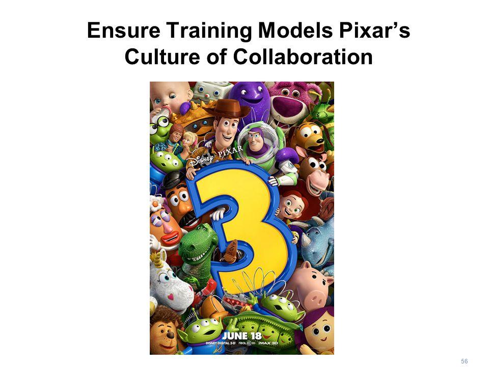 56 Ensure Training Models Pixars Culture of Collaboration
