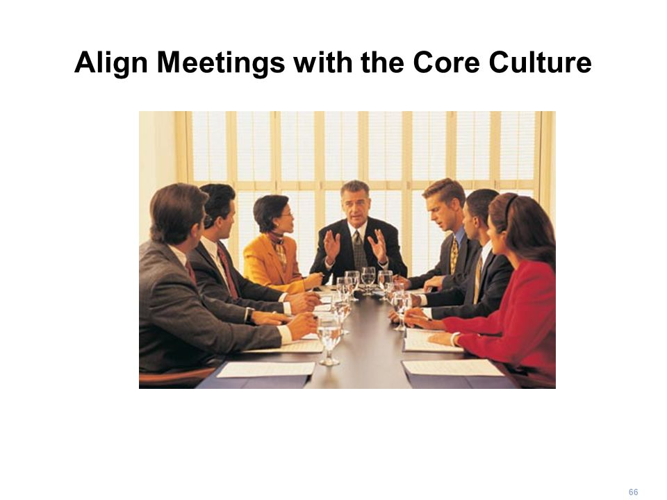 66 Align Meetings with the Core Culture